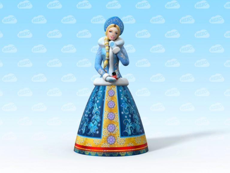 Надувная фигура Снегурочка, надувная снегурочка, снегурочка, аэрофигура снегурочка, фигуры произвольной формы, надувная женщина