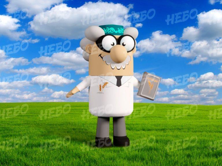 Надувной костюм агроном, пневмокостюм ученый, надувной костюм учёный