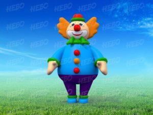 Надувной костюм Клоуна, пневмокостюм клоун, промокостюм, ростовая кукла клоун, ростовой костюм клоун