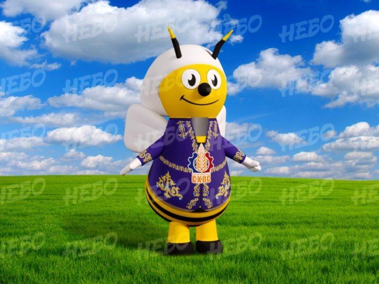 Надувной костюм Пчела, пневмокостюм, ростовая кукла пчела, костюм пчёлки