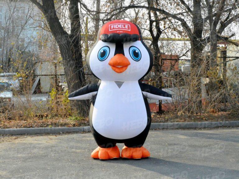 Надувной костюм Пингвин, надувной пингвин, пневмокостюм пингвин, промокостюм пингвин, костюм для аниматора, ростовой костюм, ростовая кукла, костюм для промоутера