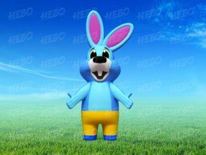 Надувной костюм заяц, пневмокостюм зайчика