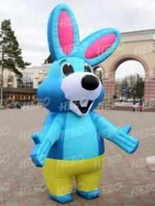 Надувной костюм заяц