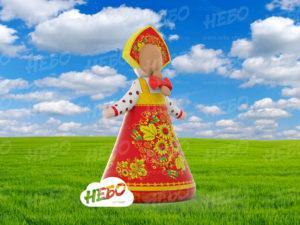 Надувная фигура девочка Масленица, вид сзади