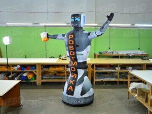 Надувная фигура робот зазывала