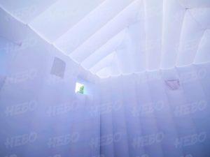 Надувное здание с прямыми стенками – надувной павильон вид внутри