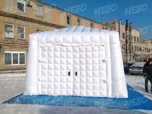 Надувной гараж – надувной павильон с двойными воротами