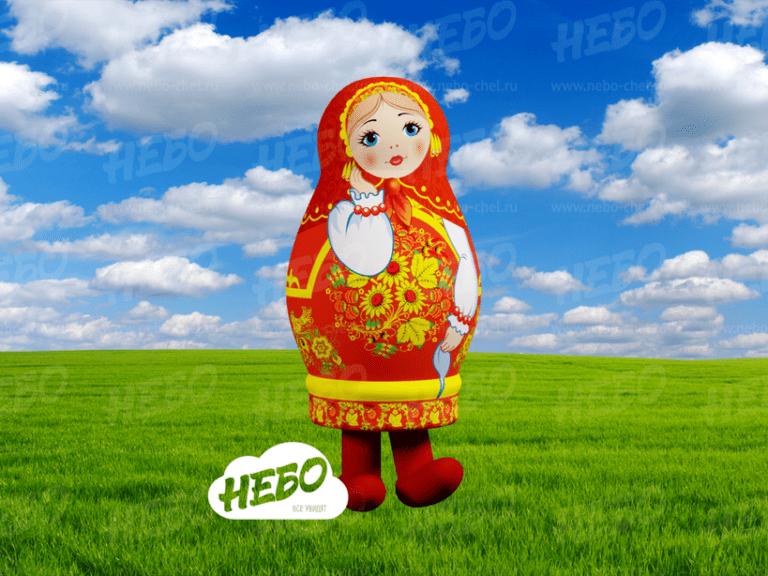Надувной костюм Матрёшка Хохлома