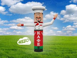 Пневмофигура повар для рекламы кафе