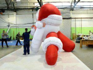 Надувна голова Деда Мороза в профиль