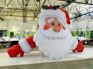 Надувная голова Деда Мороза