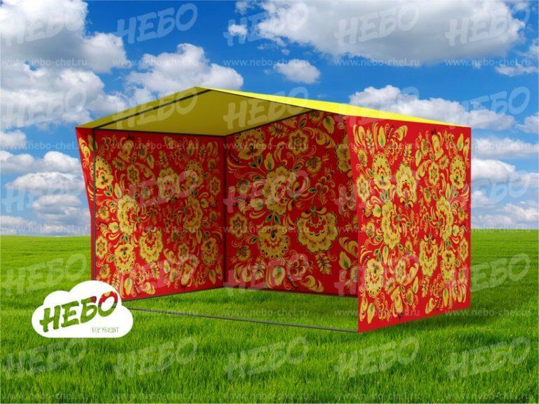 Торговая каркасная палатка Хохлома, каркасная палатка, торговый павильон, торговое место