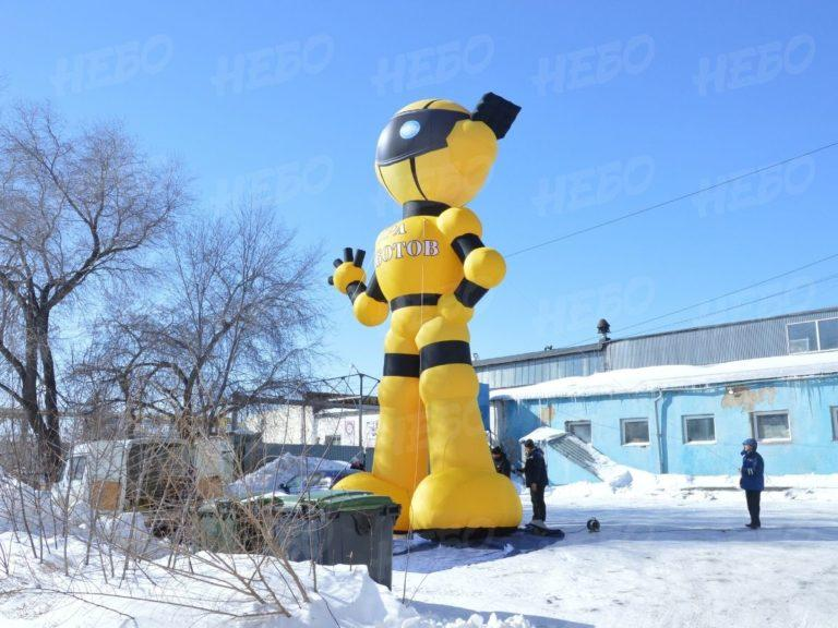 Гигантский робот – надувная фигура