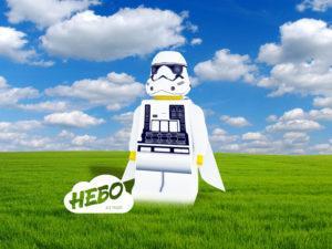 Надувная фигура Lego штурмовик Первого Ордена