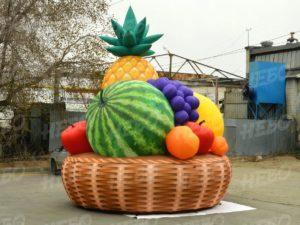 Надувная фигура произвольной формы корзина с фруктами