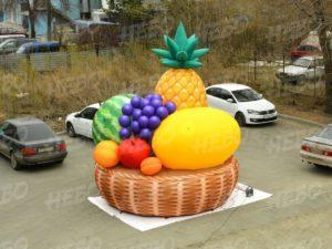 Надувная корзина с фруктами для рекламы