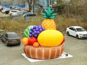 Надувная корзина с фруктами – наружная реклама