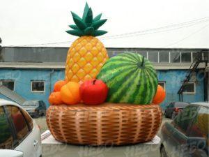 Пневмокорзина с фруктами