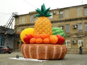 Рекламная надувная корзина с фруктами