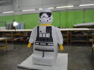 фигура Lego штурмовик Первого Ордена. лего минифигура, надувная фигурка лего