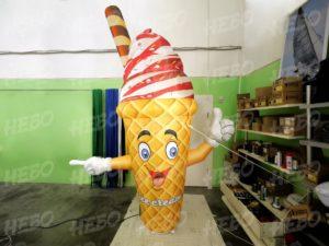 Мороженое зазывала с машущей рукой, рукомах, мороженое рукомах. зазывала мороженое, рожок мороженое, надувное мороженое, надувная фигура мороженое с машущей рукой