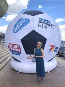 Надувной футбольный мяч от компании Небо