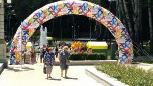 Надувная арка Облако слов на празднике в Воронеже