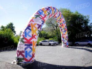Надувная арка с полноцветной печатью облако слов