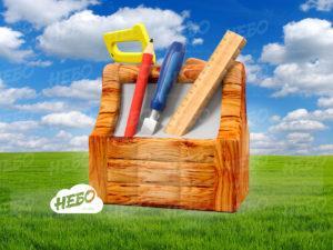 Надувной ящик с инструментами