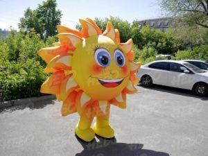 Надувной костюм Солнышко для детского праздника