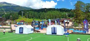 Пневмомодуль – надувная судейская палатка – ПКМ-Н14 для Архыз