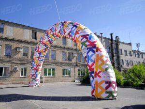 надувная арка Облако слов с брендированием