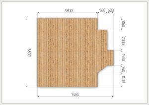 Деревянный подиум для глэмпинга с размерами