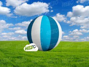 Мяч полосатый надувной