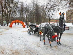 Надувная арка Хохлома на масленицу, г. Долгопрудный, МО