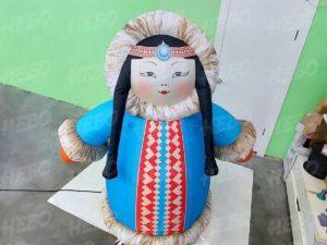 Надувная фигура Якутка в национальном костюме