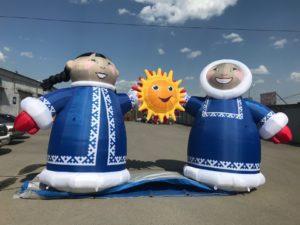 Надувная фигура Якуты и солнце