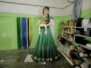 Надувная фигура татарка с чак-чаком