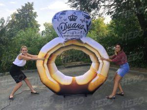 Надувное кольцо с бриллиантом
