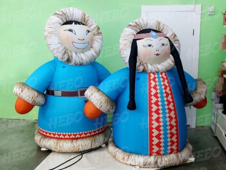 Надувные фигуры на Ысыах Якут и якутка