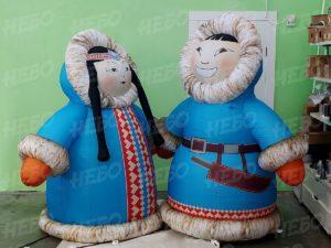 Надувные фигуры на праздник Ысыах Якут и якутка