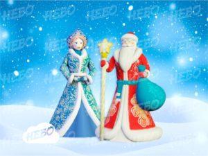 Комплект Дед Мороз и Снегурочка Премиум