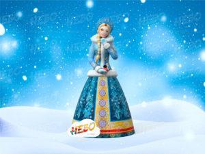 Надувная фигура Снегурочка, надувная снегурочка, снегурочка