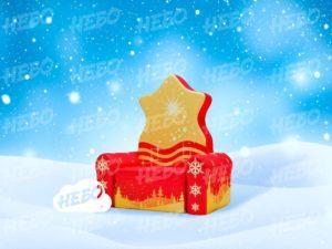 Надувной сказочный трон Деда Мороза