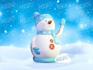 Надувной снеговик для улицы