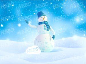 Надувной снеговик с машущей рукой