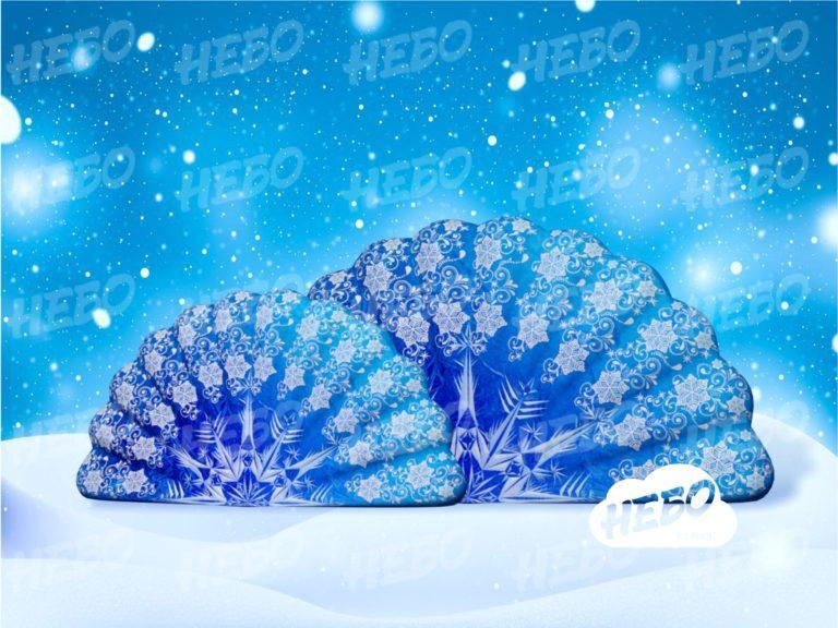 Новогоднее оформление – надувные веера (комплект)